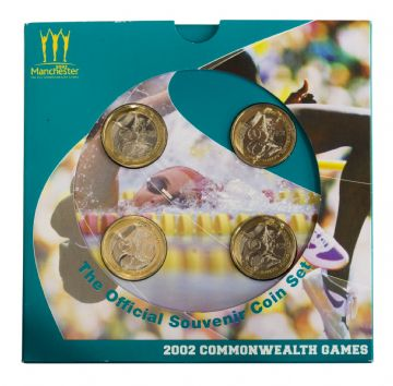 2002 4x£2 Commonwealth Games Brilliant Uncirculated pack
